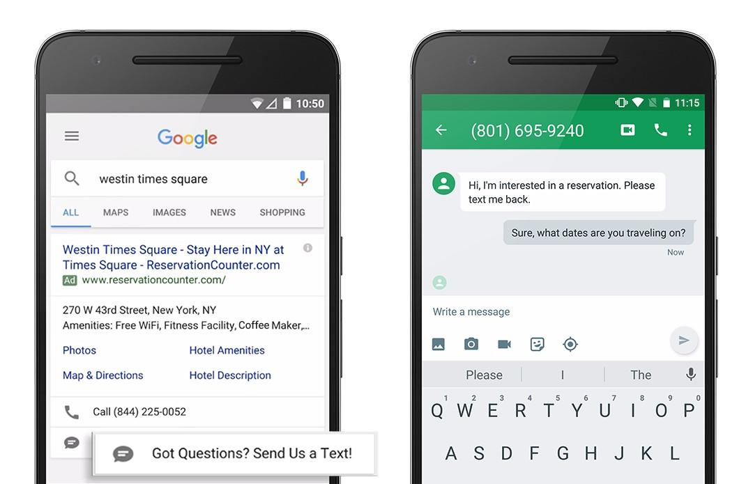 google adwords message extensions1